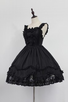 Black Neverland Barrer's Dancing Party Sweet Lolita JSK Dress