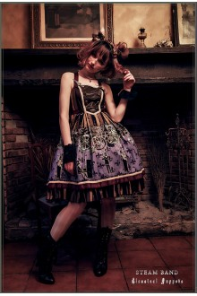 Puppets and Doll Steam Band Sleeveless Punk Lolita JSK Dress
