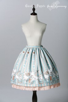 Mint Green Classical Puppets Go to Journey Sweet Lolita SK