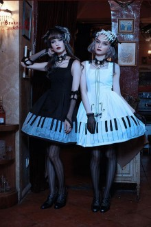 Classical Puppets Broken Dolls Notturno Gothic Lolita JSK Dress 4 Colors