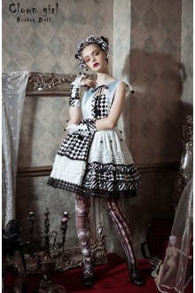 Classical Puppets Broken Doll Clown Girl Sweet Lolita JSK Dress
