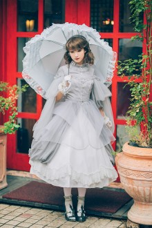 Neo Ludwig Vintage Long Sleeves Stand Collar Classic Lolita Dress