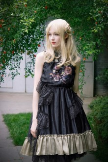 Neo Ludwig Lace Sleeveless Flouncing Sweet Lolita Dress