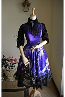 Neo Ludwig Vintage Midsummer Night's Dream Sleeveless Classic Lolita Dress