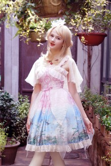 Neo Ludwig Slim V Collar Sleeveless Sweet Lolita Dress