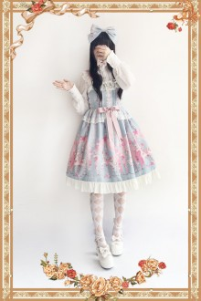 Light Blue Infanta Flower Merry-go-round Sweet Lolita JSK Dress
