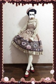 Light Color Infanta Doughnut Printing Sweet Lolita JSK Dress