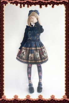 Dark Blue Infanta Magic Dictionary Sweet Lolita Strap Dress