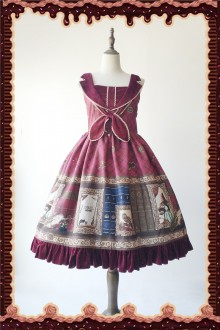 Wine Infanta Magic Dictionary Sweet Lolita JSK Dress