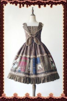 Khaki Infanta Magic Dictionary Sweet Lolita JSK Dress