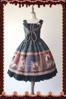 Dark Green Infanta Magic Dictionary Sweet Lolita JSK Dress