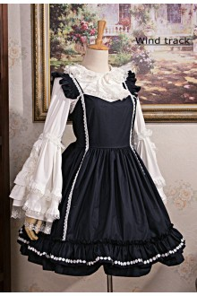 Dark Black Revelation Gothic Lolita Maid Dress