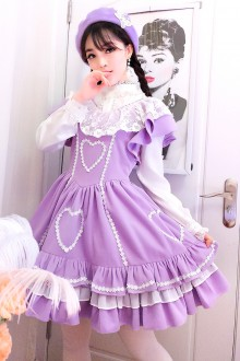 Lace V Collar Flying Sleeves Slim Sweet Lolita Dress