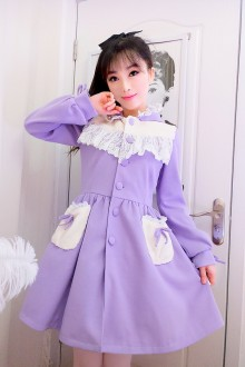Sweet Melody Lace Hooded Lolita Coat