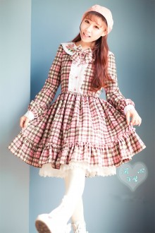 Sweet Doll Collar Flouncing Long Sleeves Wool Lolita Dress