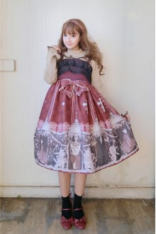 European Classical God of Sacrifice Printing Lace Sweet Lolita Dress