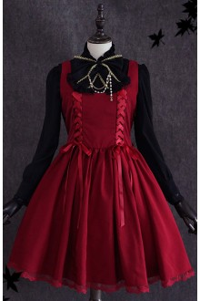 Lolita Red Wine Gift High Waist Sweet Lolita Dress