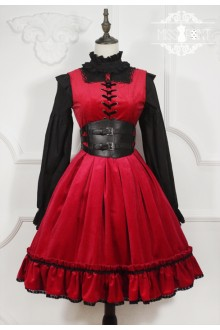 Red Miss Point Little Red Riding Hood Vintage Fairy Tale Sweet Lolita Dress