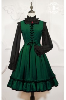 Dark Green Miss Point Little Red Riding Hood Vintage Fairy Tale Sweet Lolita Dress