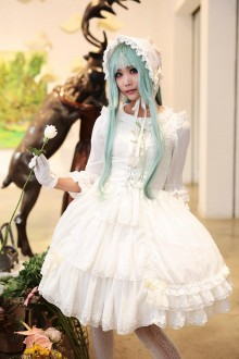 White Neverland Beatrice Sea Cat Crying Sweet Lolita JSK