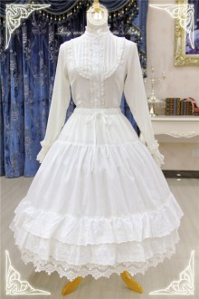 White Rose Old Castle Gorgeous Sweet Lolita Skirt