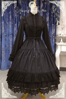 Black Rose Old Castle Gorgeous Sweet Lolita Skirt