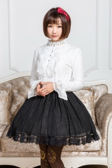 Chiffon Lace High Waist Sweet Lolita Skirt 4 Colors
