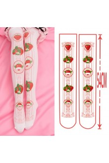 Strawberry Printing Sweet Lolita Socks