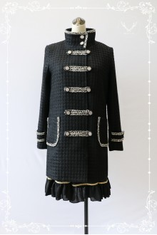 Black MILU Navy Style  Thicker Woolen Lolita Coats