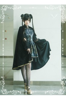 MILU Meteorite Magic Printing Sweet Lolita JSK Dress