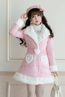 Pink Slim Long Sleeves Sweet Lolita Coat