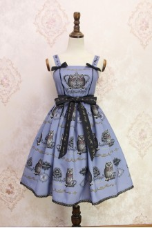 Blue Owl Printing Sweet Lolita JSK Dress