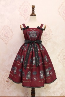 Wine Owl Printing Sweet Lolita JSK Dress