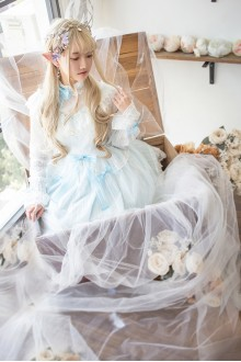 Blue Fairy Tale Mysterise Chess Story Sweet Lolita JSK Dress