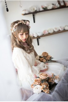 Ivory Fairy Tale Mysterise Chess Story Sweet Lolita JSK Dress