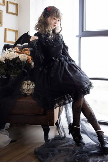 Black Fairy Tale Mysterise Chess Story Sweet Lolita JSK Dress