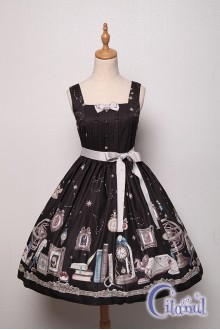 Black Citanul Astrologer's Mysterious Sanctum Sweet Lolita JSK Dress