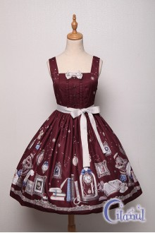 Wine Citanul Astrologer's Mysterious Sanctum Sweet Lolita JSK Dress