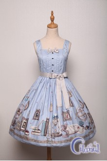 Light Blue Citanul Astrologer's Mysterious Sanctum Sweet Lolita JSK Dress