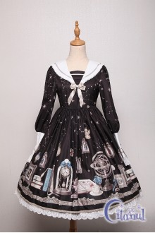 Black Citanul Astrologer's Mysterious Sanctum Sweet Lolita OP Dress
