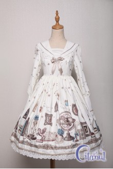Ivory Citanul Astrologer's Mysterious Sanctum Sweet Lolita OP Dress