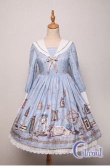 Light Blue Citanul Astrologer's Mysterious Sanctum Sweet Lolita OP Dress