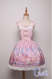 Pink Citanul Kitty's Illuson Sweet Lolita Strap Dress