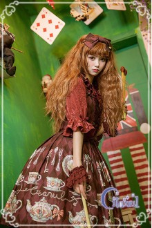 Wine Citanul A Mad Tea-Party Sweet Lolita JSK Dress
