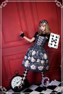 Black Citanul A Mad Tea-Party Sweet Lolita JSK Dress