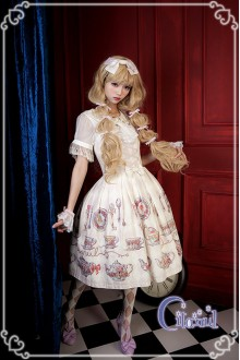 Ivory Citanul A Mad Tea-Party Sweet Lolita JSK Dress