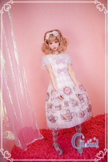 Ivory Citanul A Mad Tea-Party High Waist Sweet Lolita JSK Dress Version 2