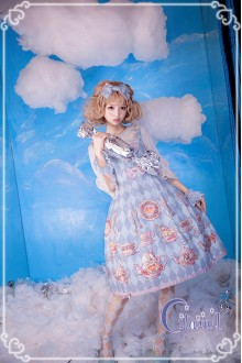 Mint Green Citanul A Mad Tea-Party High Waist Sweet Lolita JSK Dress Version 2