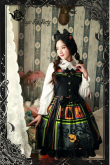 Magic Tea Party Halloween Printing Sweet Lolita JSK Dress Version 2