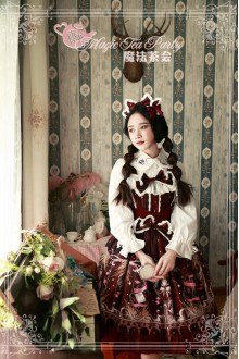 Wine Magic Tea Party Star City Printing Long Sleeves Sweet Lolita JSK Dress